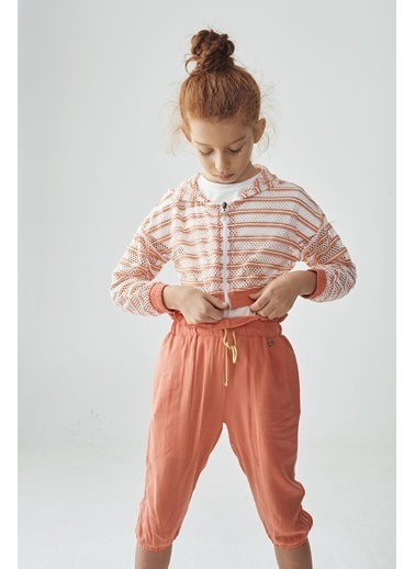 Tyess Kız Çocuk Çizgili Eşofman Üstü Renkli